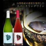 【ふるさと納税】月山山麓 ロゼSPとセイベルSP スパークリングワイン セット 月山トラヤワイナリー
