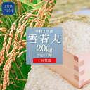 【ふるさと納税】新食感のお米!令和2年産 雪若丸20kg(5