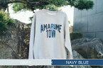 【ふるさと納税】復刻 AMARUME TOWN Sweatshirt(GRAY×NAVY BLUE)【今年度限り】