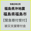 【ふるさと納税】【令和3年2月 福島県沖地震被害寄付受付】福島県福島市災害応援寄附金(返礼品はありません)