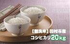 【ふるさと納税】【無洗米】田村市産コシヒカリ20kg (5kg ×4袋)TC6-2