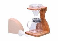 【ふるさと納税】☆世界中で愛されるHARIOのコーヒーメーカー☆V60オリーブウッドスタンドセット