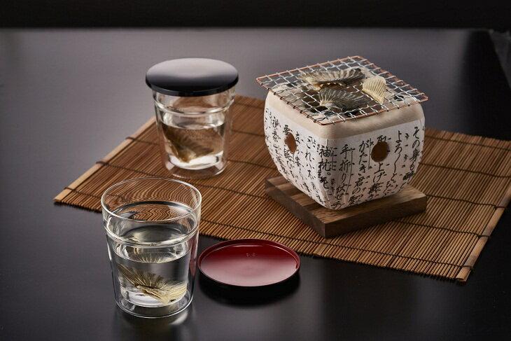 BD62_HARIO ガラスのヒレ酒カップ1合用 GHK-180 ハリオ/ガラス/酒器/熱燗用/日用品/プレゼント/おしゃれ