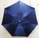 【ふるさと納税】古河ブランド雪華模様折り畳み洋傘直径55cm(ネイビー)
