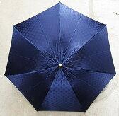 【ふるさと納税】BL16_雪華模様の折り畳み傘(サイズ60cm)カラー:ネイビー