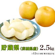 【ふるさと納税】11-8茨城県産「貯蔵梨」2.5kg