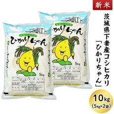 【ふるさと納税】13-K10茨城県産コシヒカリ「ひかりちゃん」10kg(5kg×2袋)