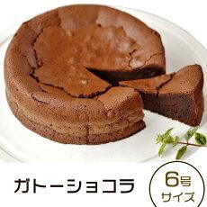 【ふるさと納税】48-10「ガトーショコラ」6号サイズ(6〜8人前)