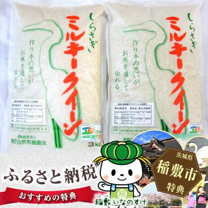 特別栽培米 しらさぎミルキークイーン 6kg<29年度産米> お米