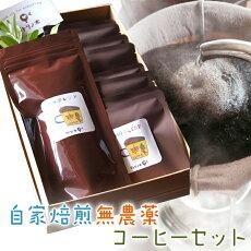 【ふるさと納税】10-01自家焙煎無農薬コーヒーセット