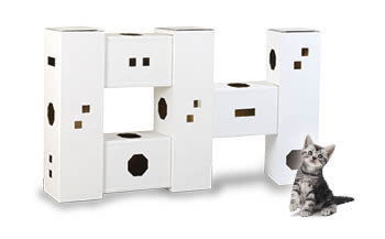 【ふるさと納税】にゃんハウス「タワータイプ」6箱セット