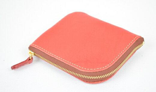 【ふるさと納税】財布 minca/Lzip wallet small 02/RED