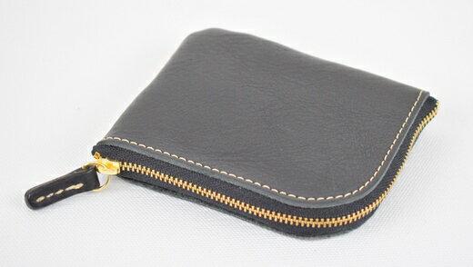 【ふるさと納税】財布 minca/Lzip wallet small 02/BLACK