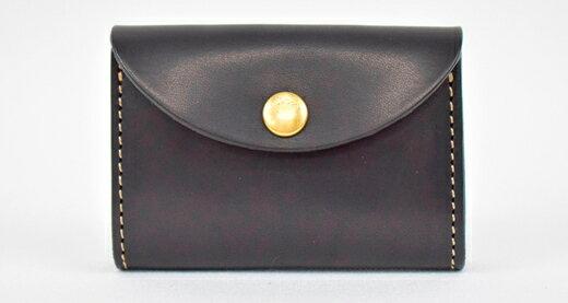【ふるさと納税】財布 minca/Coin purse 02/BLACK栃木レザー 和宏