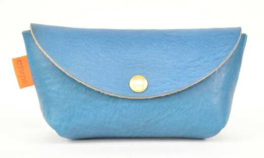 【ふるさと納税】財布 minca/Pouch 02/S/BLUE 栃木レザー 和宏