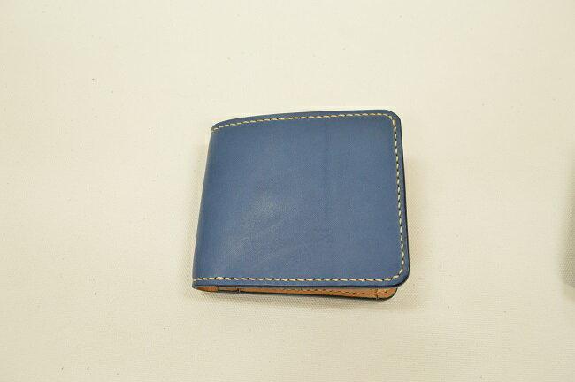 【ふるさと納税】財布 minca/Half wallet 01C/BLUE