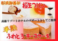 【ふるさと納税】・絶品スイーツセット・那須御養卵たっぷりの半熟ふわとろチーズケーキと濃厚極生プリンセット