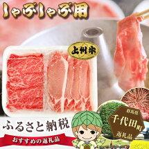 【ふるさと納税】No.041上州牛・上州麦豚しゃぶしゃぶセット約700g