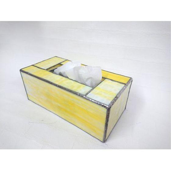 【ふるさと納税】ステンドグラスのボックスティッシュケース(高さ10cm) 【工芸品・インテリア】 お届け:発注後1か月〜2か月程度で配送