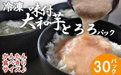 【ふるさと納税】冷凍味付大和芋とろろパック【11218-0369】