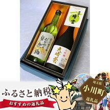 【ふるさと納税】No.008和紙と有機の郷からの贈り物晴雲大吟醸・純米吟醸各720ml詰合せ