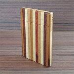 【ふるさと納税】木工職人が作った手作り木の名刺入れ(寄木)【1077074】