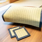 【ふるさと納税】職人の手作り品天然い草の枕とコースターセット