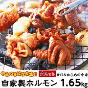 【ふるさと納税】肉ホルモン自家製ホルモン1.65kg(Aセット)【やみつきになる味!】[0010-0701A]