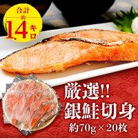 【ふるさと納税】厳選!!チリ産銀鮭切身(約70g)20枚合計約1.4kg【1108527】
