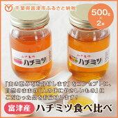 【ふるさと納税】☆【自然のまま】富津産ハチミツ食べ比べ500g×2本