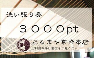 【ふるさと納税】洗い張りで利用できる商品券3000pt【チケット】