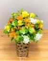 【ふるさと納税】《記念日に届くお花シリーズ》アレンジメントMサイズ_イエロー/オレンジ系
