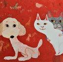 【ふるさと納税】アーティストが『愛しいペットのポートレート』描きます 6号サイズ スクエア 410×410mm【 神奈川県 小田原市 】
