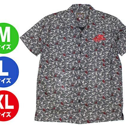 【ふるさと納税】GONZO SURF オリエンタルボタンシャツ ネイビー 【服・男性・メンズ・ファッション】