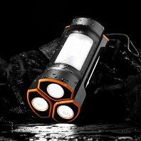 【ふるさと納税】LED懐中電灯型モバイルバッテリー 2500mAh ×3本セット OWL-LPB2501LA-BK【 モバイルバッテリー 神奈川県 海老名市】