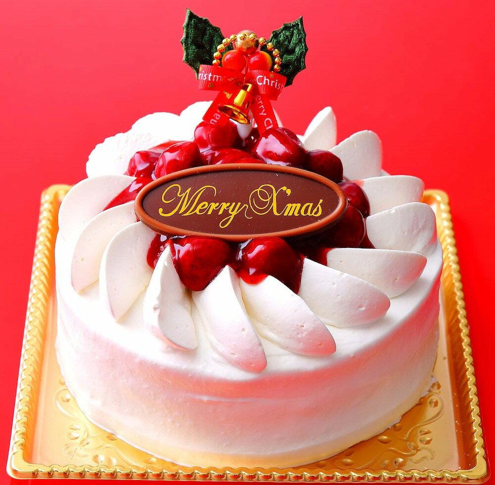 【ふるさと納税】クリスマス 苺ホワイトデコレーションケーキ 5号 [0083]