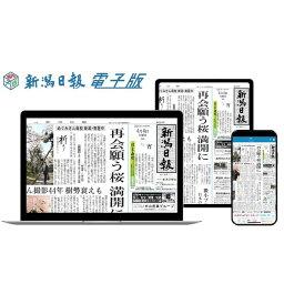 【ふるさと納税】新潟日報電子版(朝刊+おとなプラス)(3か月)