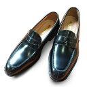 【ふるさと納税】牛革 マッケイ製法トラッドシューズ8802BL 【ファッション・靴・シューズ】
