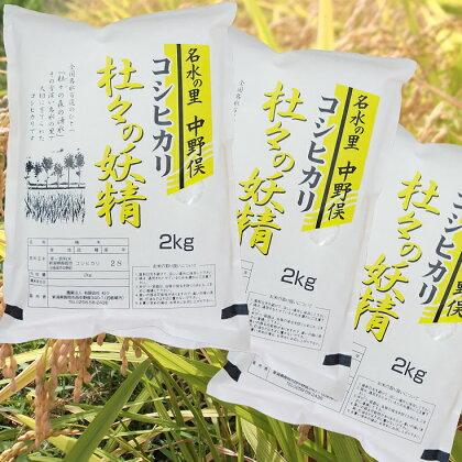 杜々の妖精コシヒカリセット(2kg×3袋)