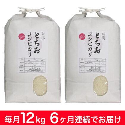 【29年産】新潟県長岡産コシヒカリ(栃尾地域) 毎月12kg 6回お届け