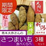 【ふるさと納税】期間限定農家青木大作さんのさつまいも食べくらべ3種セット新潟県