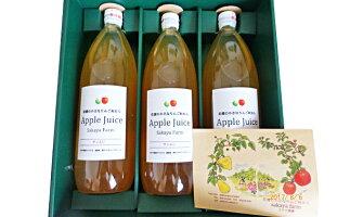 【ふるさと納税】農園オリジナルのリンゴジュースセット【果実飲料・ジュース】