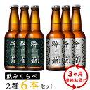 【ふるさと納税】定期便 ビール A06-3【3ヶ月連続お届け】吟籠クラフトビール6本飲み比べセット(2種各3本)