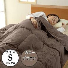 【ふるさと納税】寝具布団シングル洗える抗菌高品質SB-08抗菌防臭洗えるダウンケット【シングル/ブラウン】(日本製)