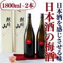 【ふるさと納税】阿賀町マンマ認定数量限定麒麟山梅酒1800ml×2本化粧箱入り