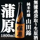 【ふるさと納税】【A-1】地酒無濾過袋取り生原酒純米吟醸『蒲原』1.8L
