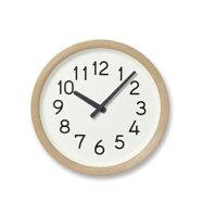 【ふるさと納税】Day To Day Clock / ナチュラル(PIL19-16 NT)Lemnos レムノス 時計 【工芸品・装飾品・民芸品・伝統技術・インテリア・時計・掛け時計】 お届け:※申込状況によりお届け迄1?2ヶ月程度かかる場合があります。