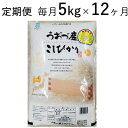 【ふるさと納税】5kg×12ヶ月定期便 富山県うおづ産米コシ...