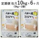 【ふるさと納税】10kg(5kg×2袋)×6ヶ月定期便 富山...