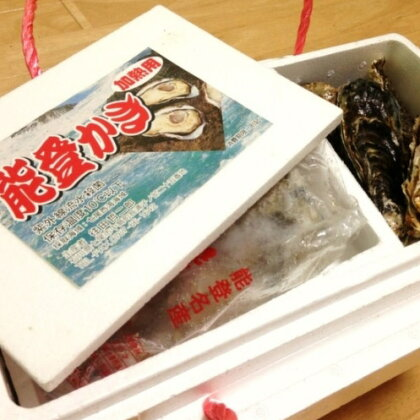 殻付能登牡蠣とむき身 (殻付能登牡蠣20個とむき身500g)